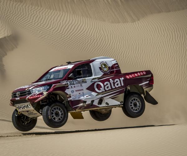 Al Attiyah Leads Al Qassimi in Flying Start to Dubai International Baja as French Rider Tops Bikes